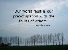Our worst fault